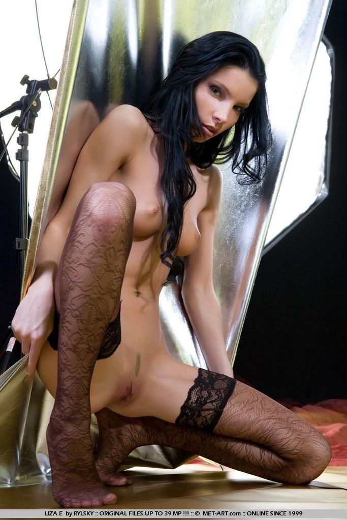 Sensual Liza in black stockings - 8