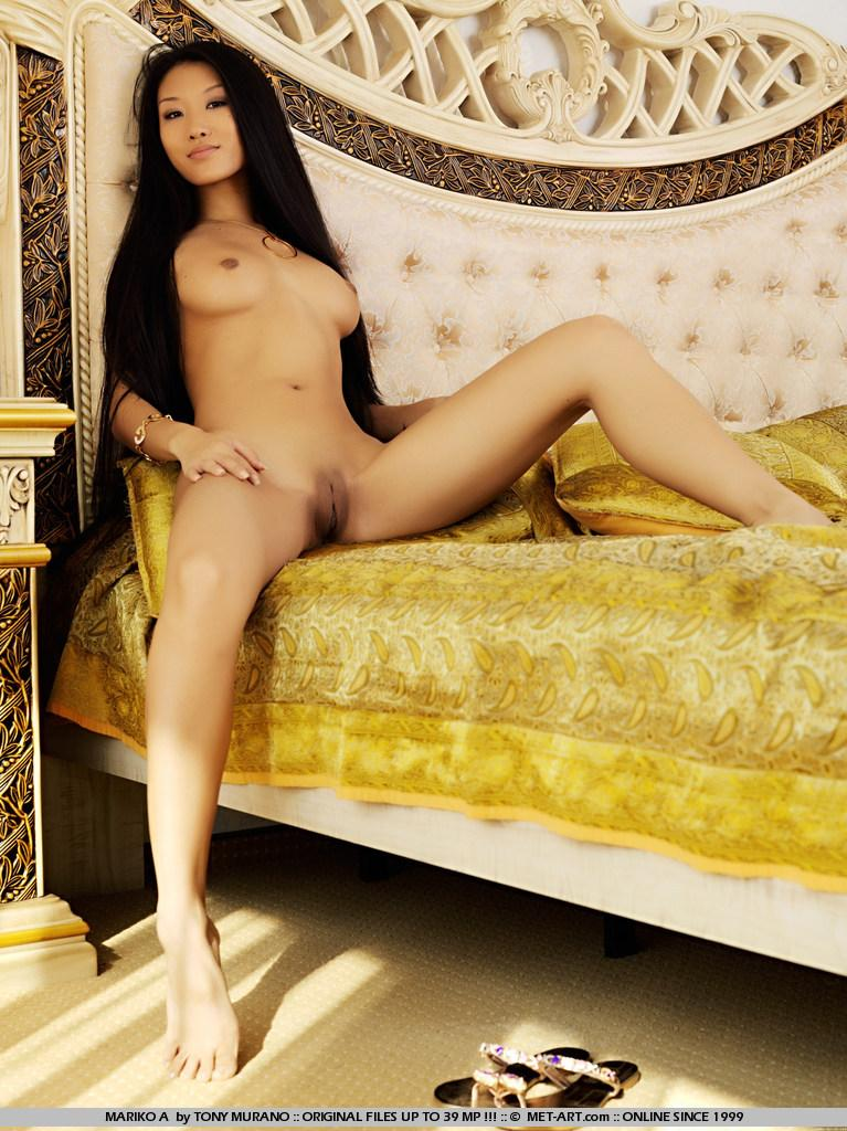 Long-haired Asian with tiny body - Mariko - 13