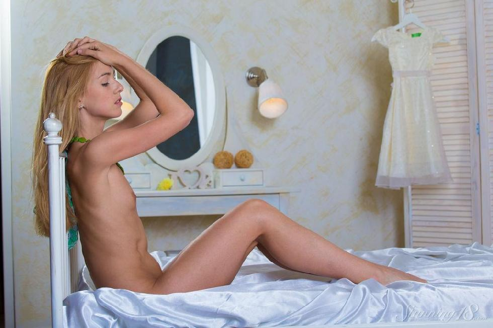 Slim blonde on the bed - Ruby - 11