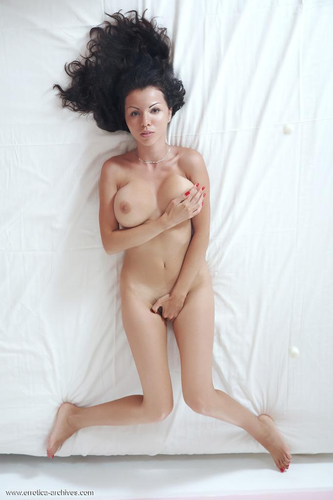 Naked Takia shows her hairy pussy - 1