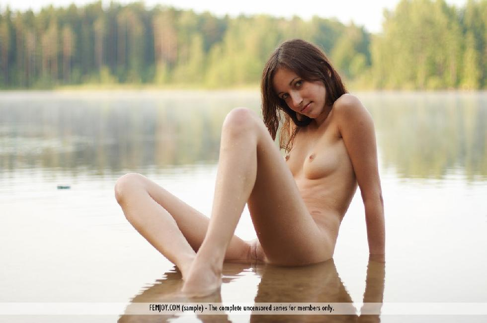 Cute redhead in the lake - Marie - 13