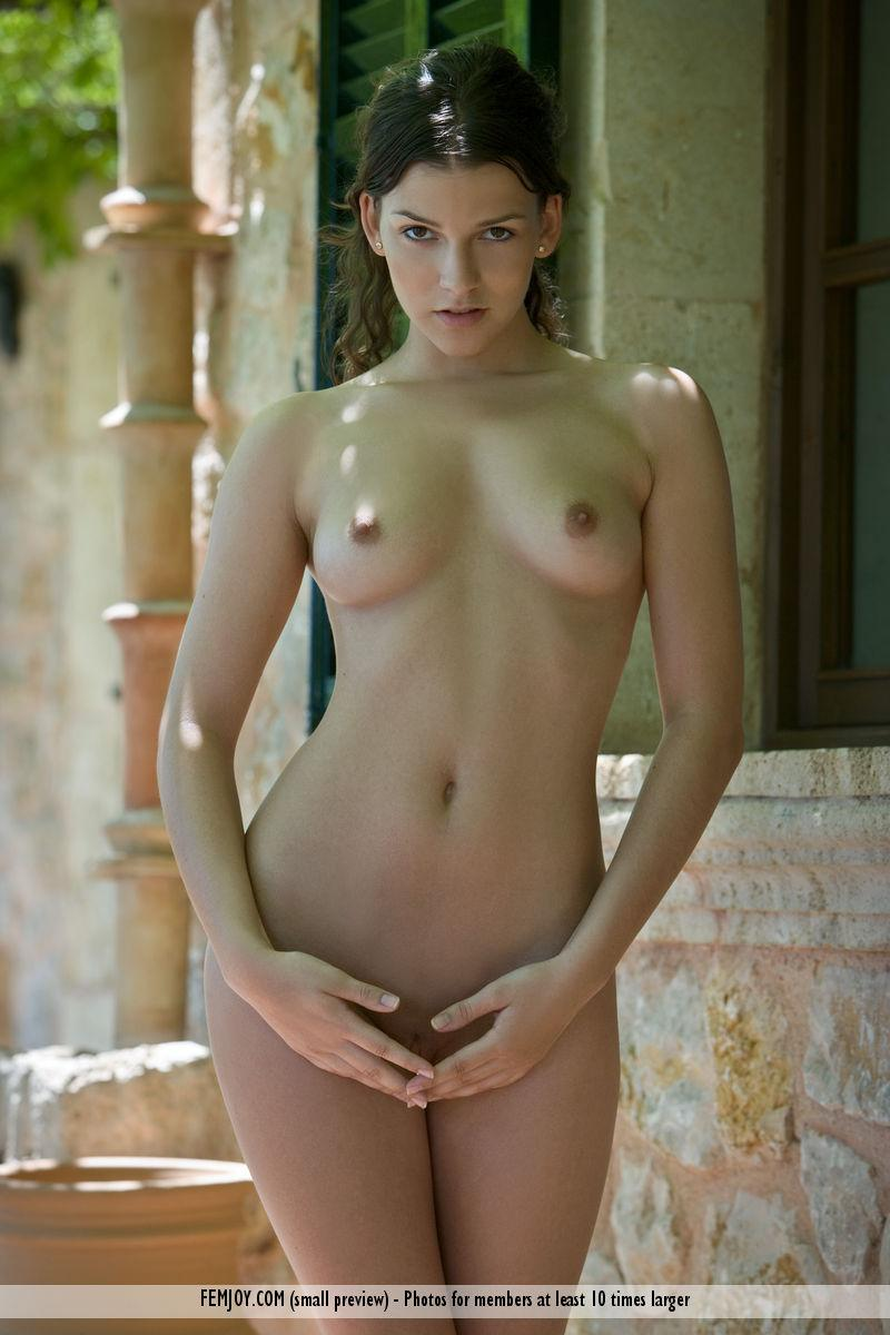 Charming Eva shows her young body - 1