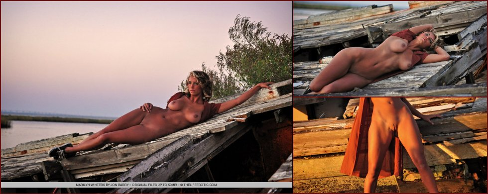 Sensual Marilyn Winters is posing by sunset - 8