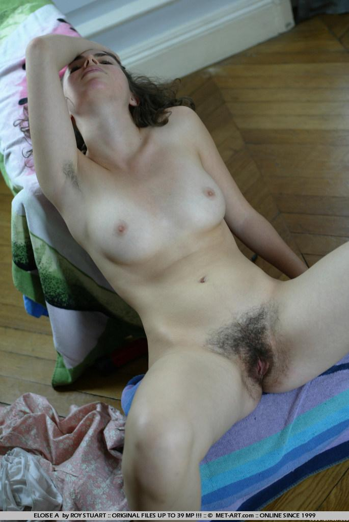 Natural girl shows hairy pussy - Eloise - 18