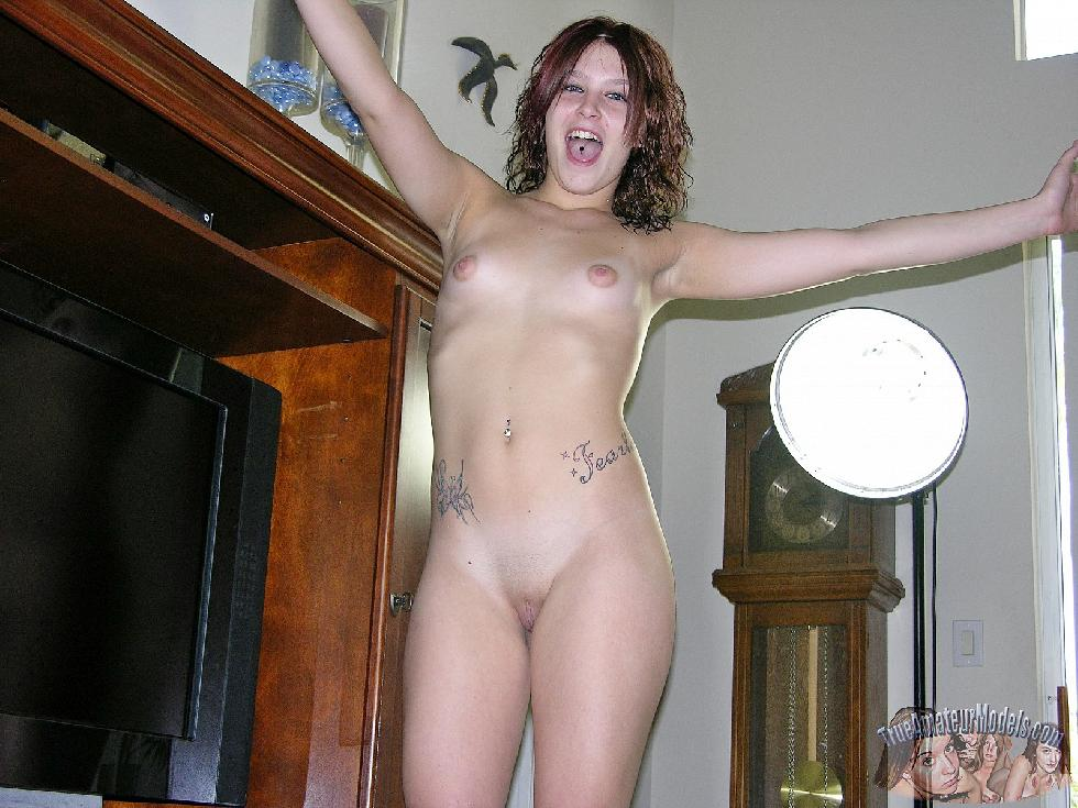Charming redhead is stripping at home - Abby - 8