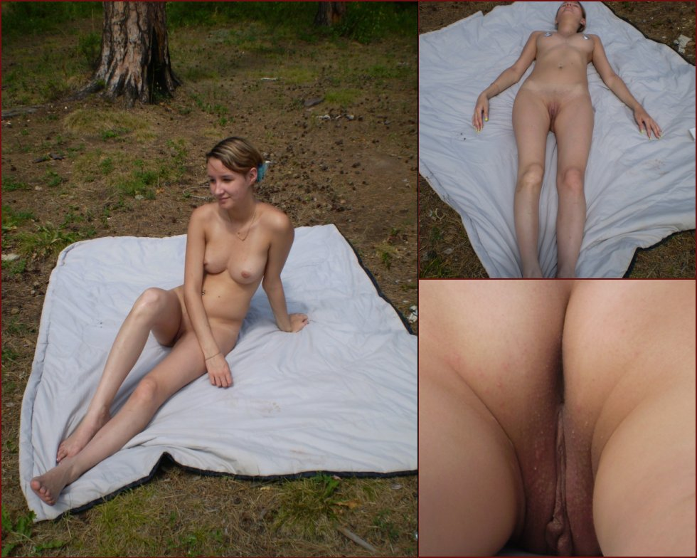 Naked amateur is sunbathing on the tower - 30