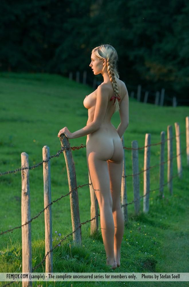 Amazing blonde with two cute pigtails - Corinna - 12