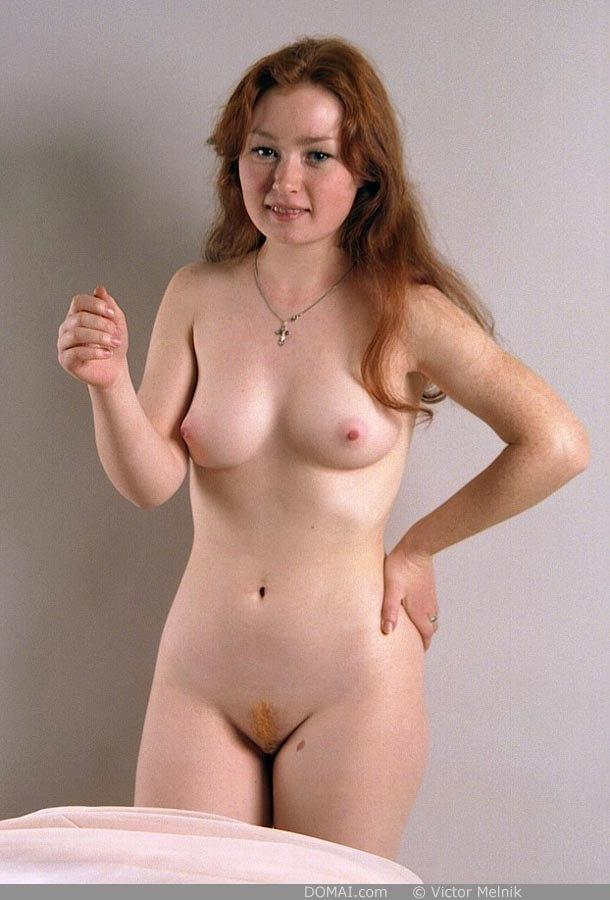 Naked red-haired Ginger in professional session - 2