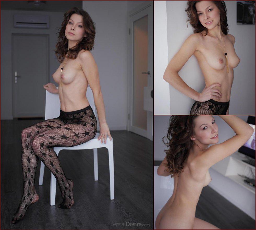 Beautiful Nitsa is taking off her pantyhose - 71