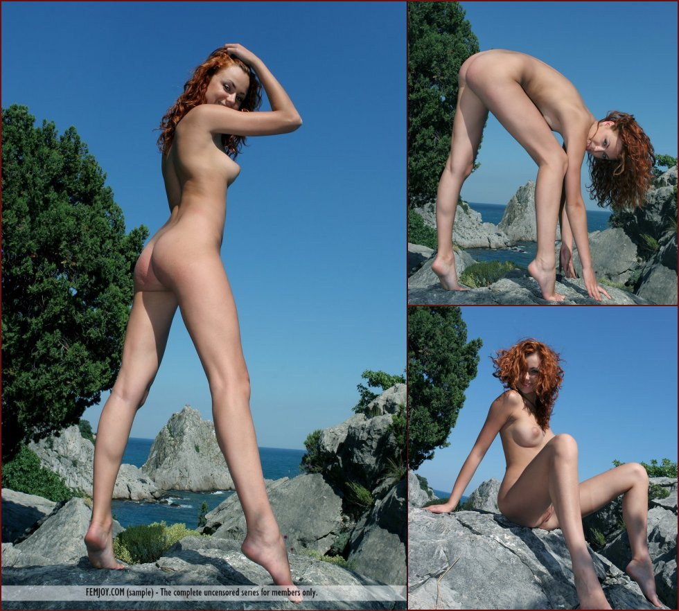 Naked redhead on the rocky mountain - Clarissa - 81