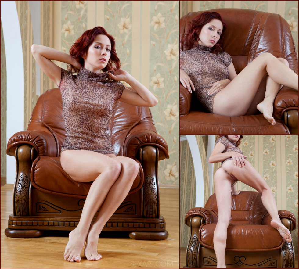 Red-haired Night is touching juicy pussy - 87