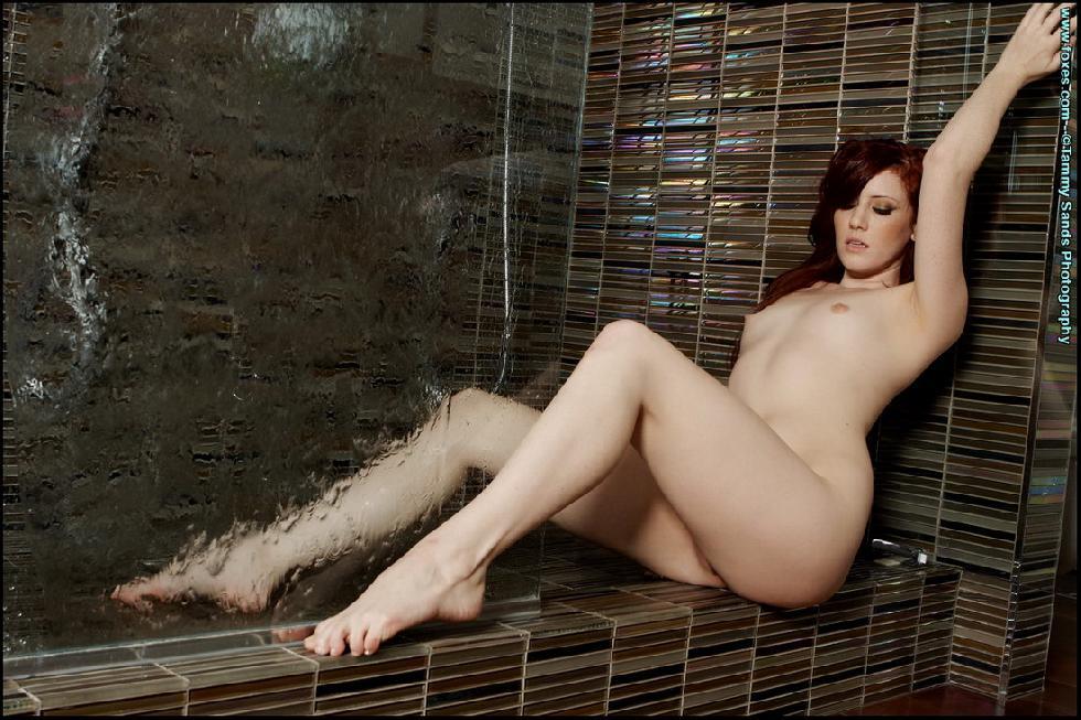 Fantastic redhead under shower - Elle Alexandra - 8