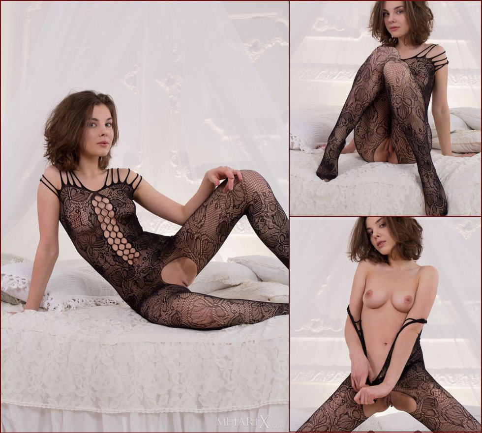 Sensual girl in sexy bodystocking - Dakota - 49