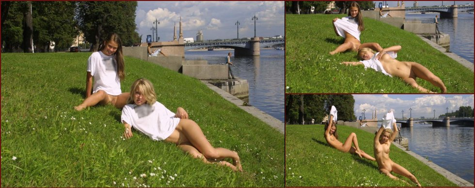 Two young girls in public session - 20
