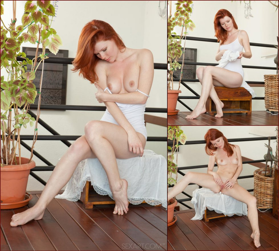 Pretty redhead is masturbating on the floor - Mia Sollis - 32
