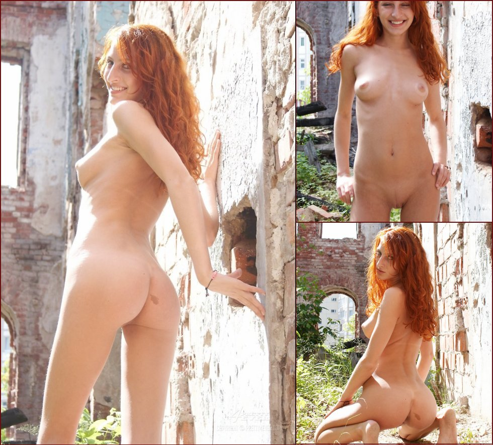 Wonderful redhead shows naked body - Kristina - 17