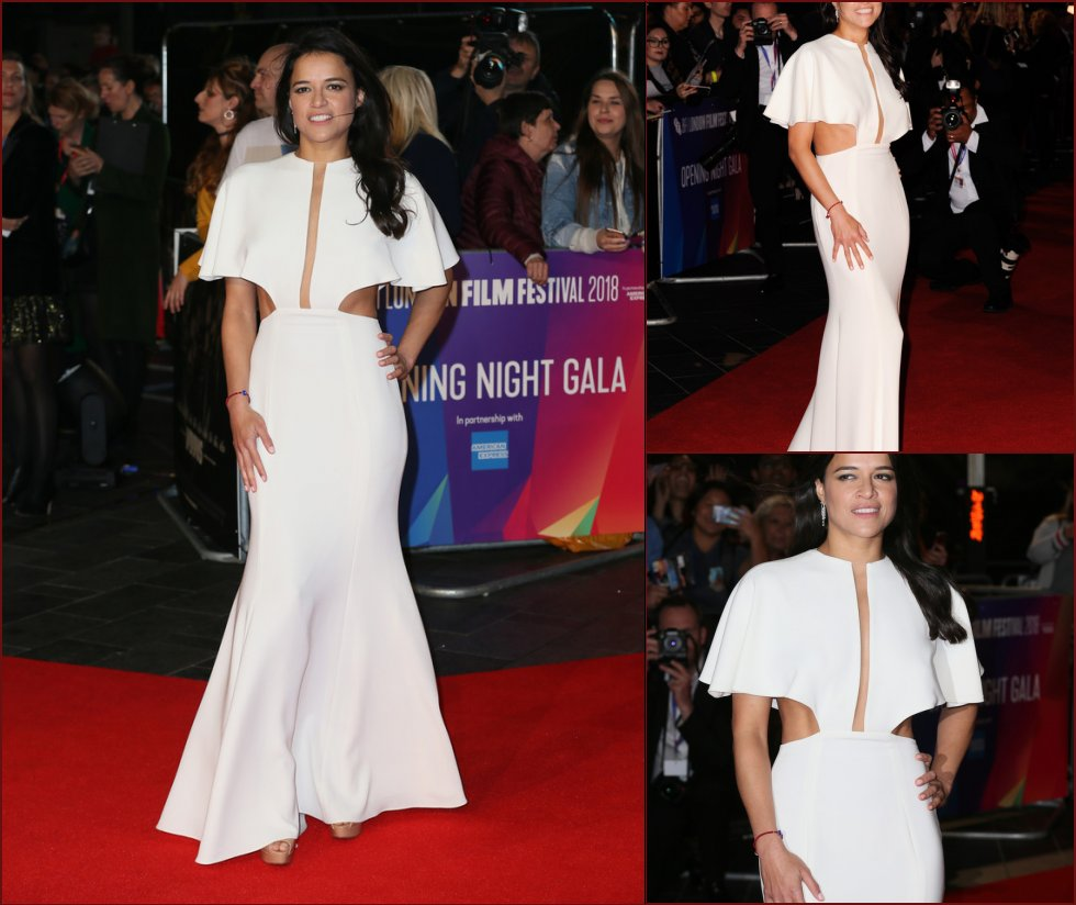 Michelle Rodriguez is showing tits on the red carpet - 3