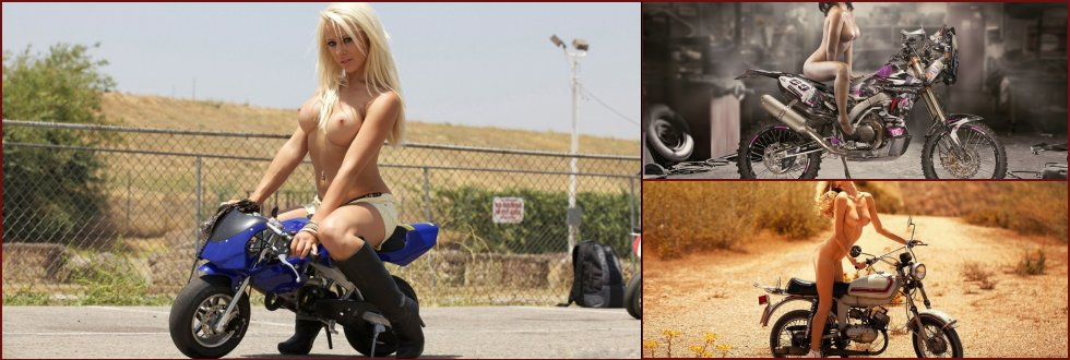 Hot chicks on motorbikes. Part 1 - 1