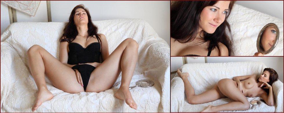 Horny Lauren Crist and her mirror - 11