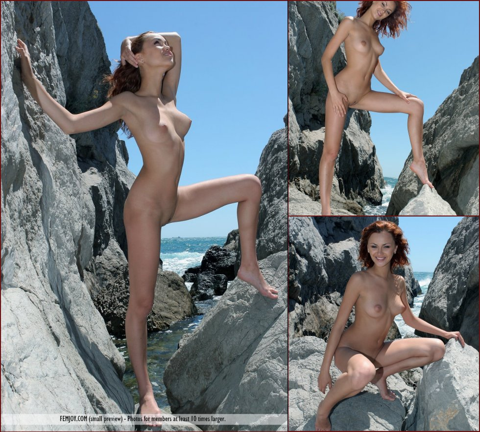 Naked redhead on the rocky mountain - Clarissa - 17