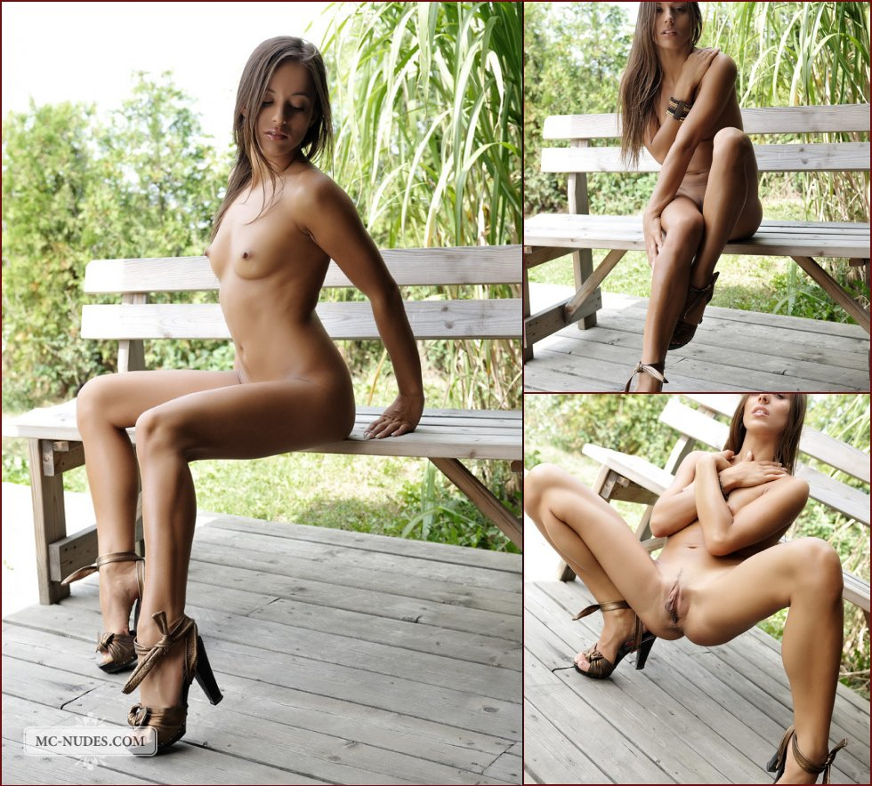 Amazing Dominika is tempting on the bench - 37