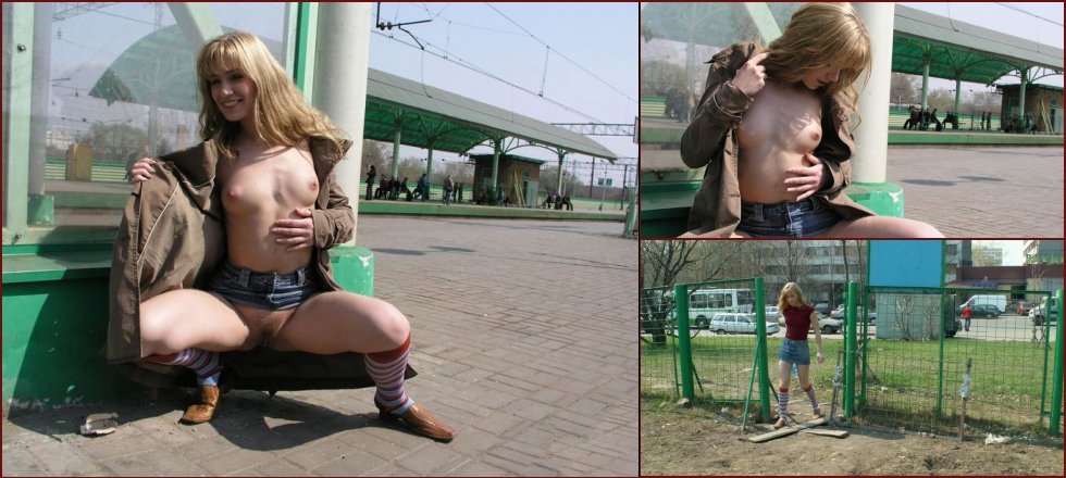 Yulia Tikhomirova is showing pussy in public places - 40