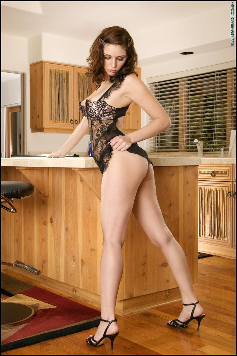 Sensual redhead is tempting in the kitchen - Charlotta Champagne - 1