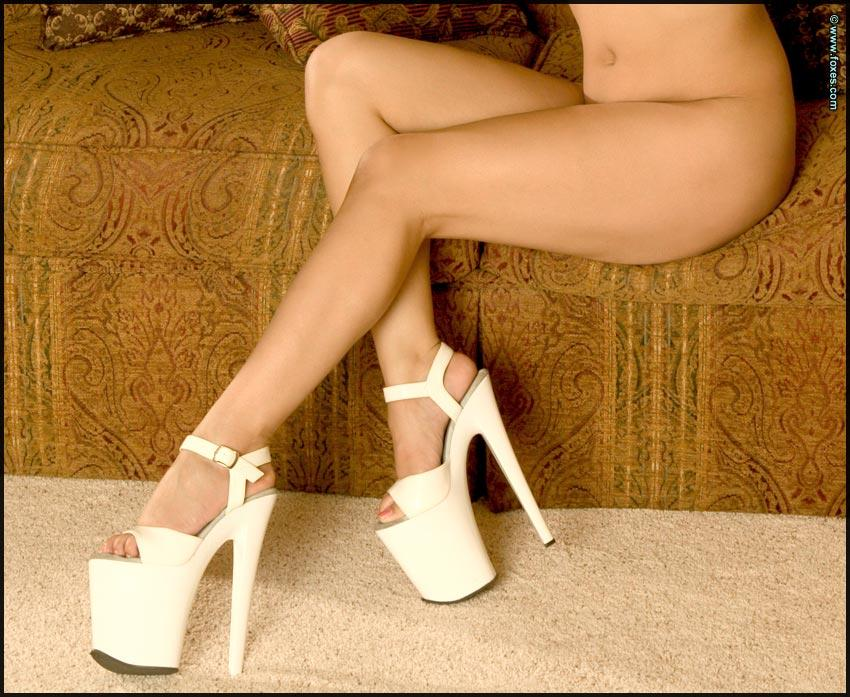 Hot Asian chick in sexy white high heels - Leilani Lee - 15