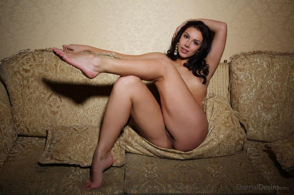 Fantastic Angelique is tempting on the sofa. Part 2 - 1