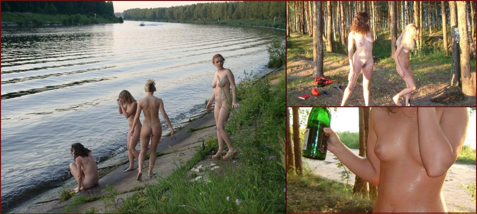 Naked amateurs in nature - 40