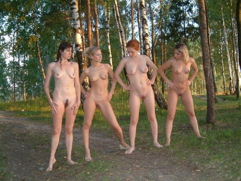 Naked amateurs in nature - 7
