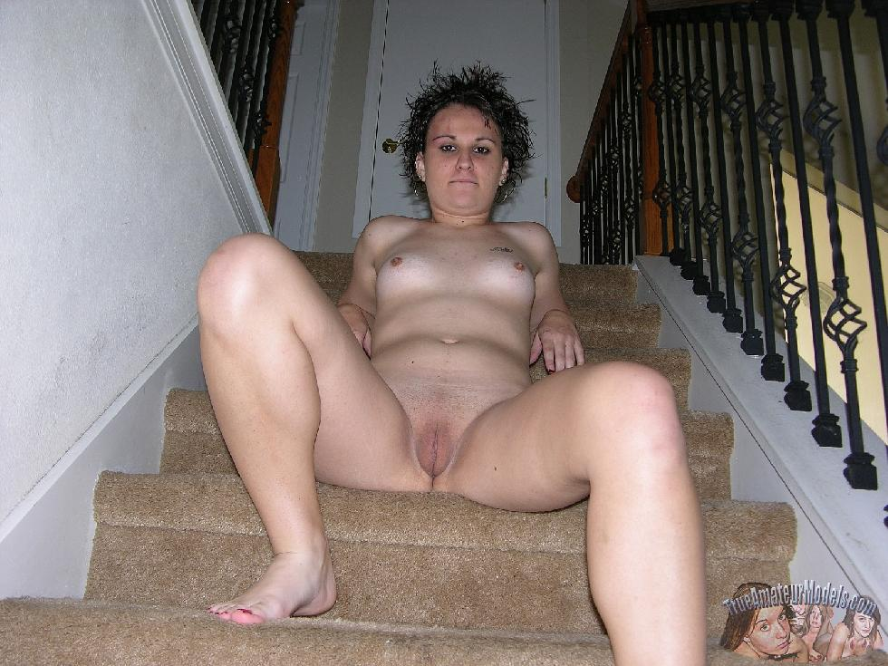 Brunette named Baby is showing shaved pussy. Part 1 - 8