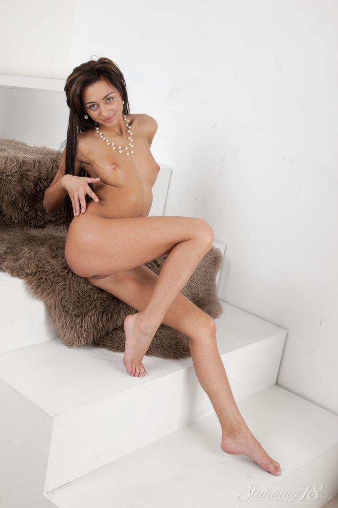 Stunning Dominika Dark shows her wet pussy - 12