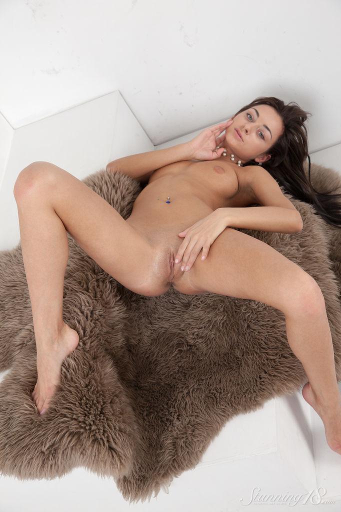 Stunning Dominika Dark shows her wet pussy - 6