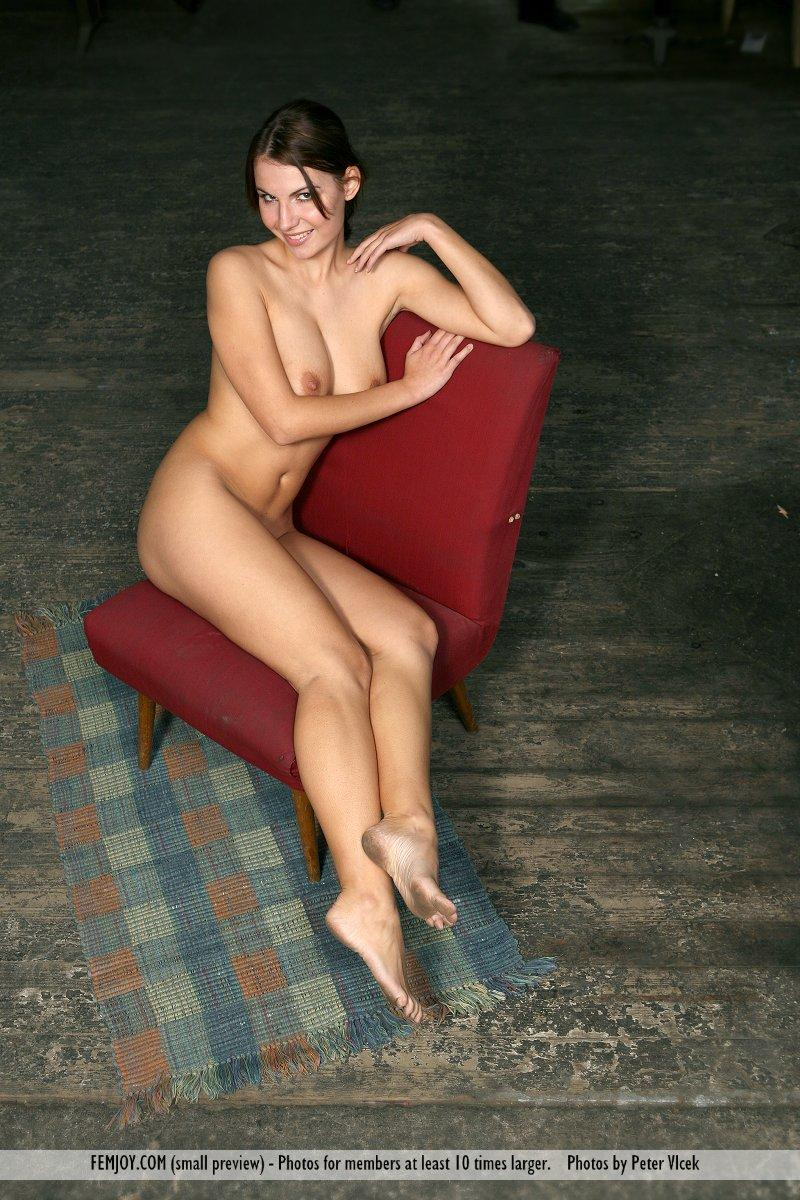 Wonderful naked girl on the red chair - Laura - 11