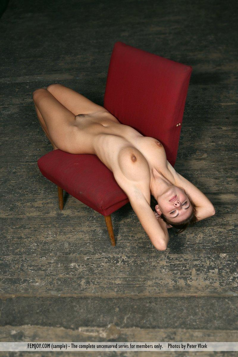 Wonderful naked girl on the red chair - Laura - 14