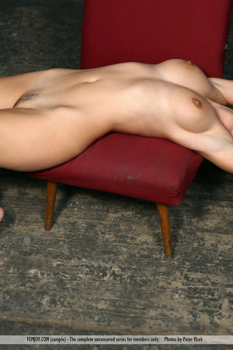 Wonderful naked girl on the red chair - Laura - 16