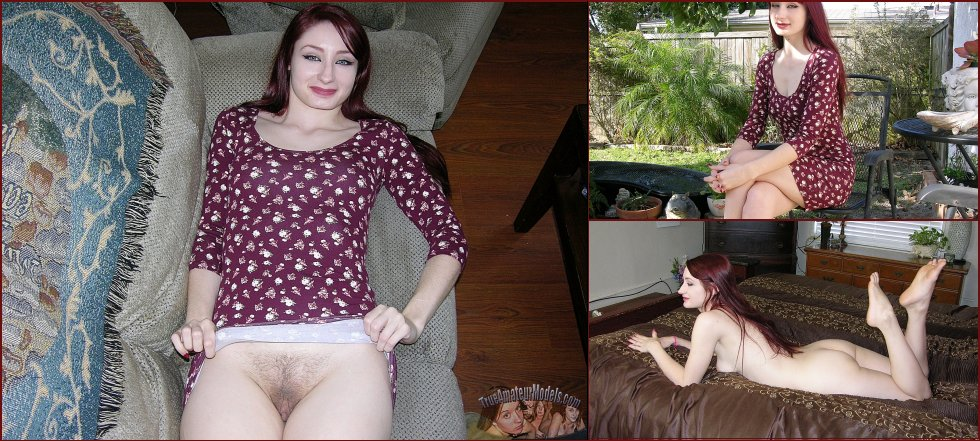 Pretty redhead is showing her ass - Violet - 30
