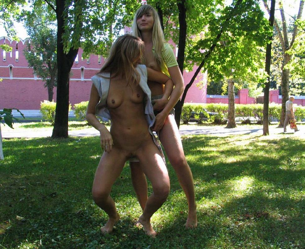 Two horny girls in the park - 3