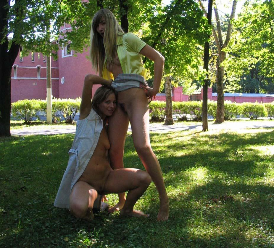 Two horny girls in the park - 4