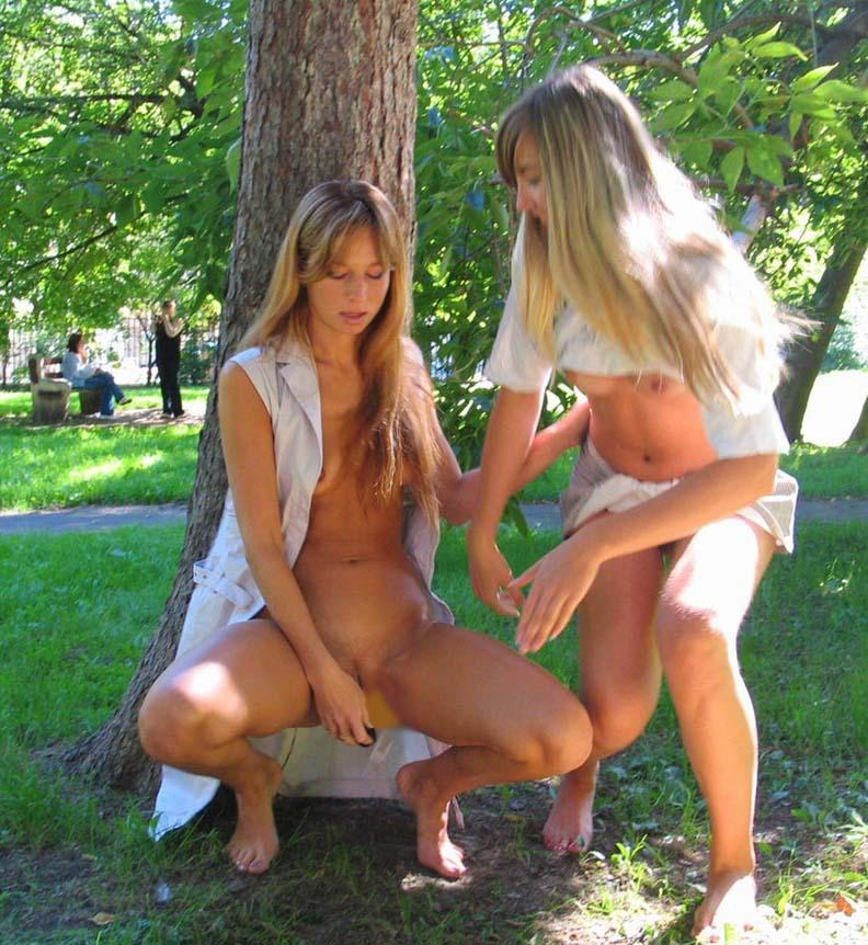 Two horny girls in the park - 6