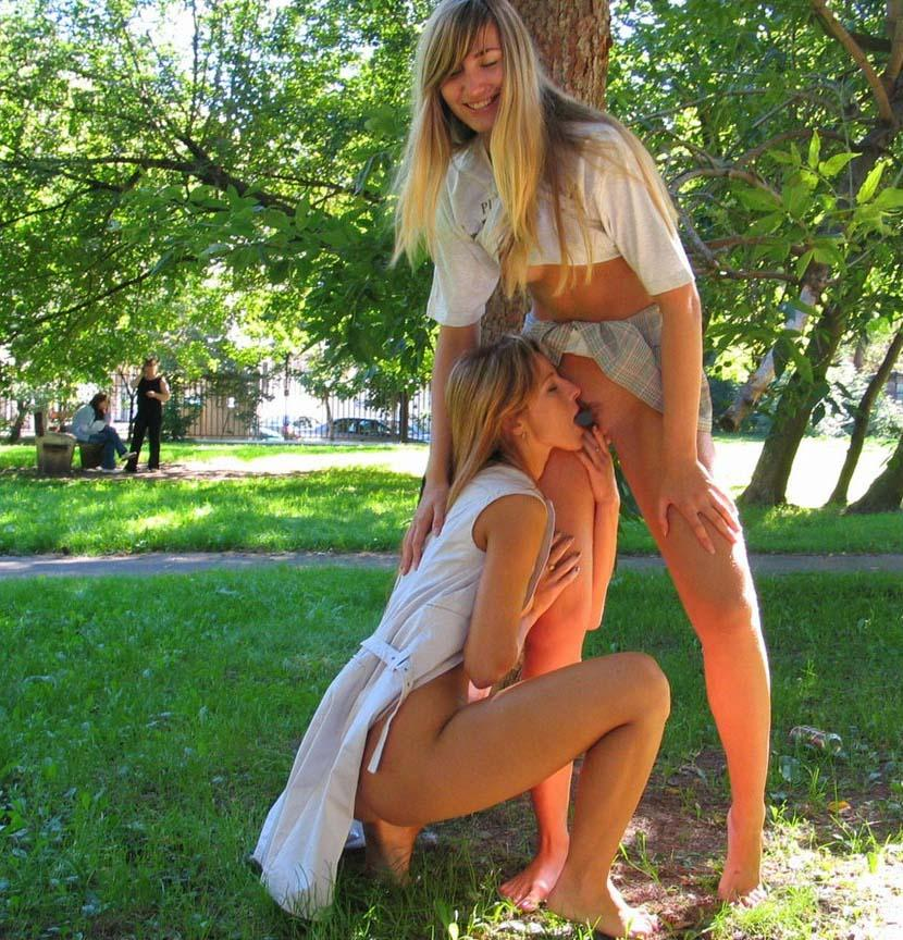 Two horny girls in the park - 9
