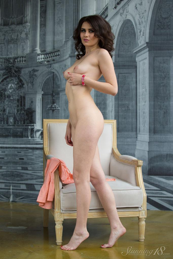 Viola is tempting on the white armchair - 10