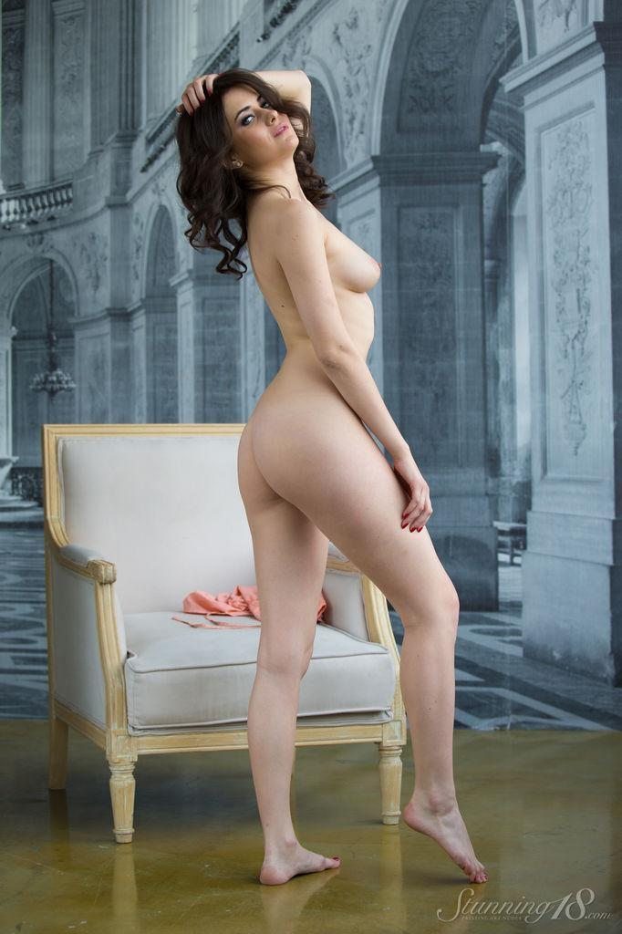Viola is tempting on the white armchair - 11