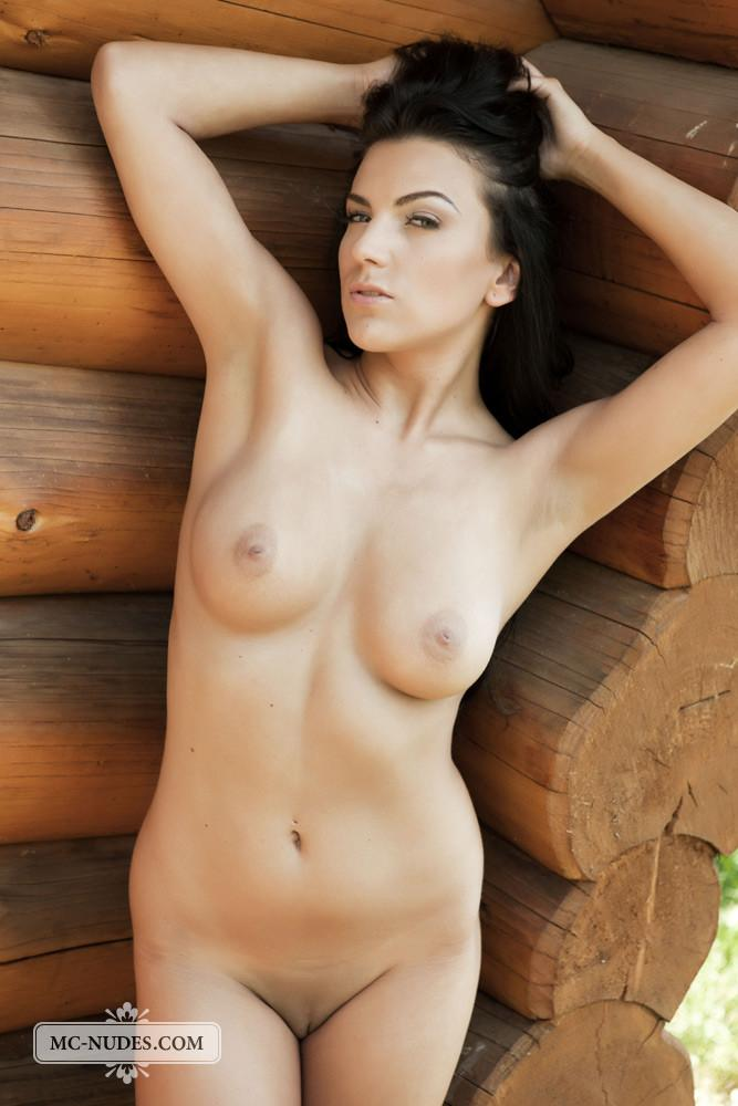Naked brunette is tempting in stilettos - Anella - 6