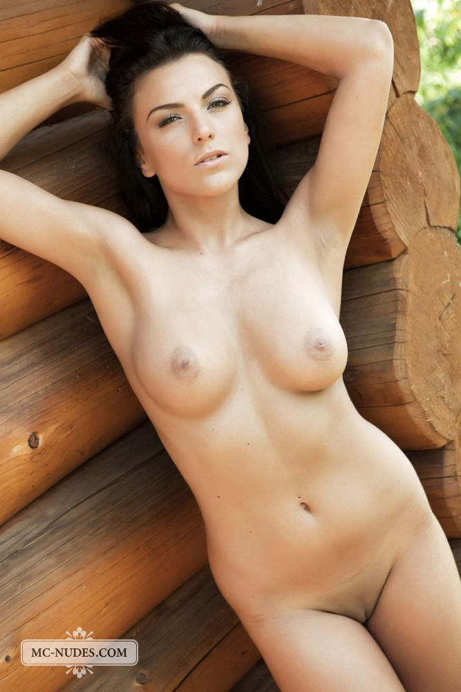 Naked brunette is tempting in stilettos - Anella - 7