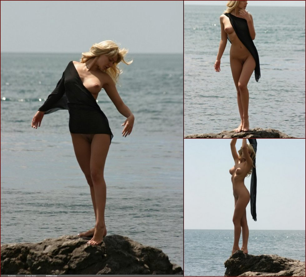 Beautiful Evabelle is posing by the sea. Part 1 - 1