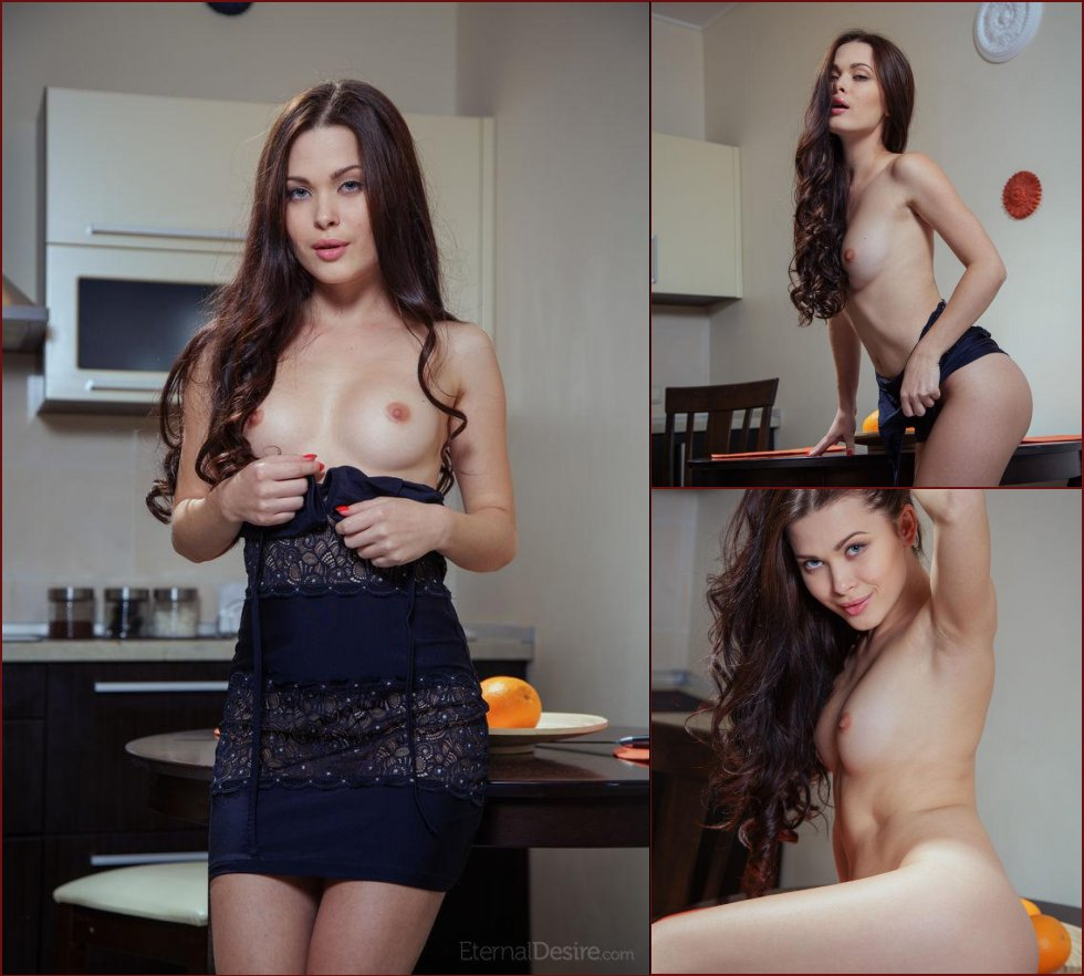 Sensual Amelie is tempting in the kitchen. Part 1 - 1