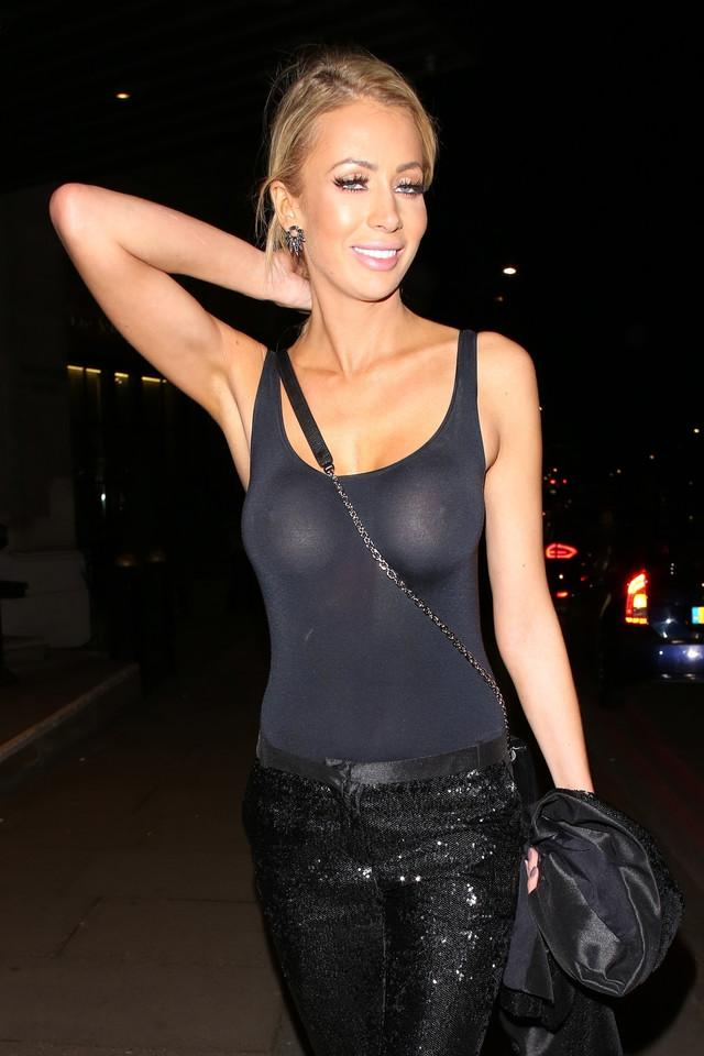 Olivia Attwood is showing tits