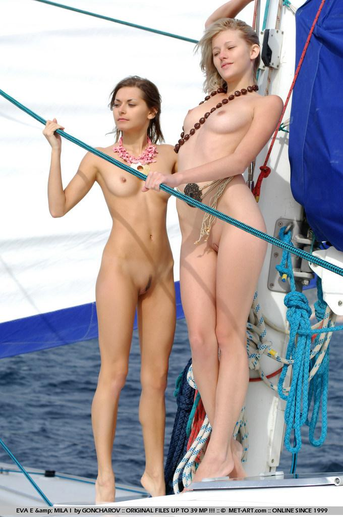 Naked Eva and Mila on the yacht. Part 1 - 1